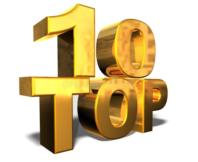 10顶层 向量例证