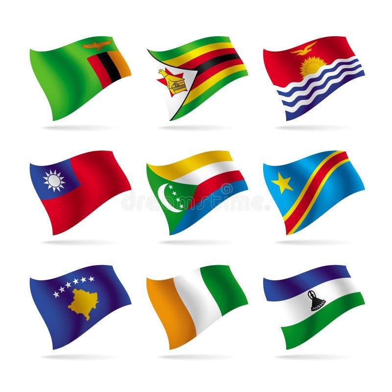 10 σημαίες που τίθενται το&nu ελεύθερη απεικόνιση δικαιώματος