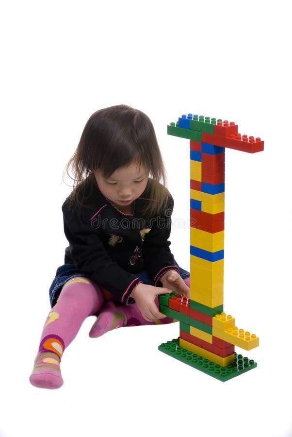 10 блоков строя серии детства стоковое фото rf