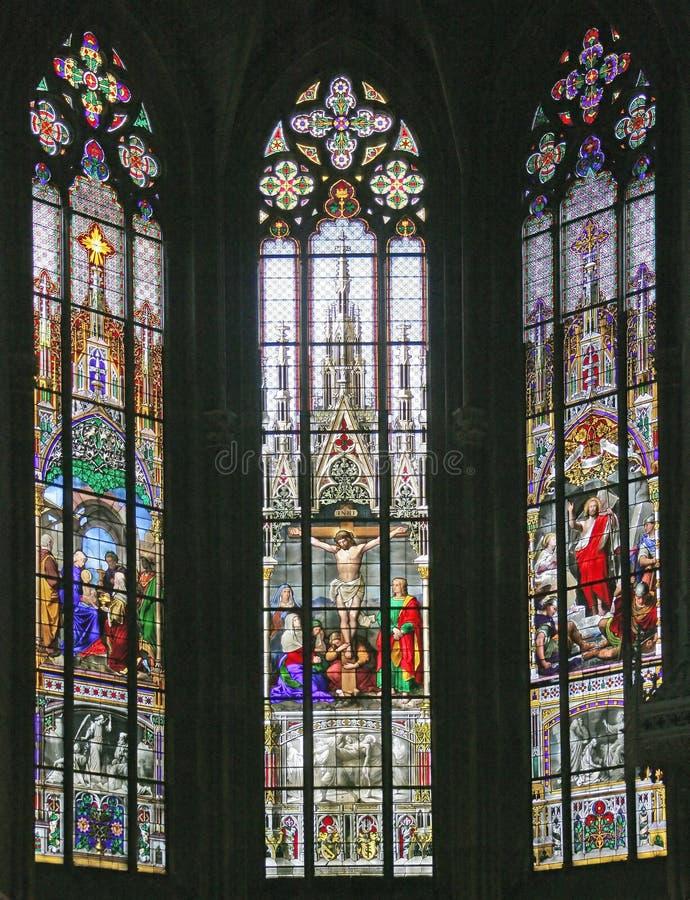 10 окно запятнанное стеклами стоковая фотография rf
