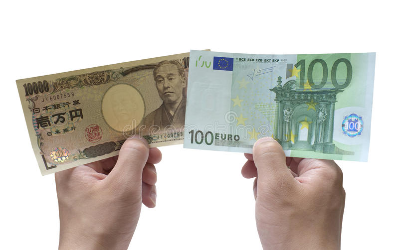 10 000 yen and 100 euro stock photo image of invest for Emprunter 100 000 euros