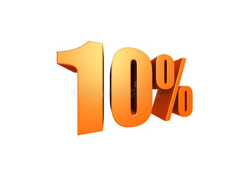 10% ilustração stock