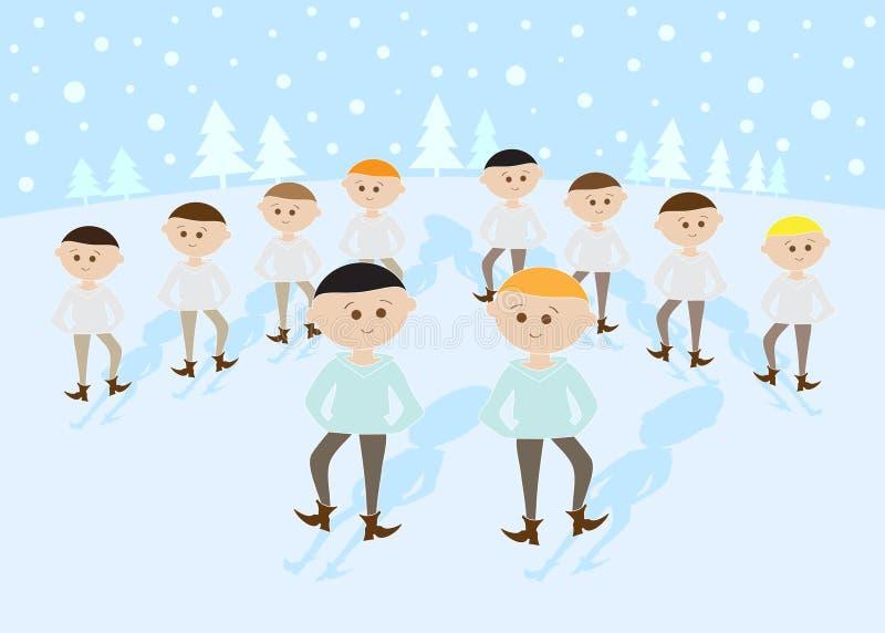 10 12 juldagar som hoppar lords royaltyfri illustrationer