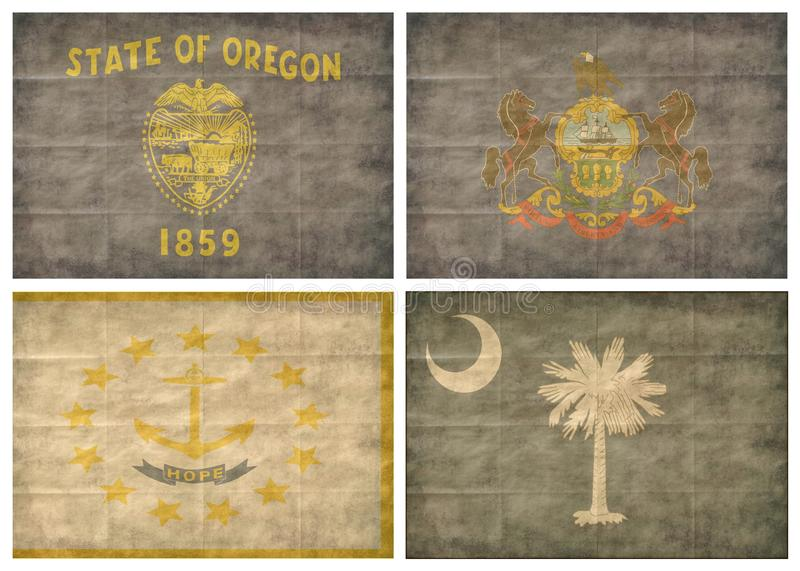 10/13 US state flags stock images