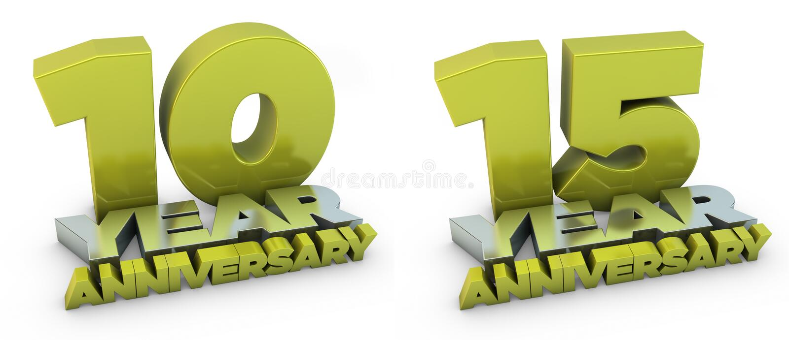 Download 10 and 15 year anniversary stock illustration. Image of illustration - 14383669