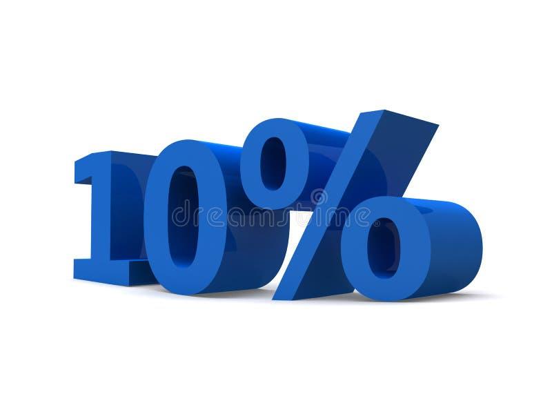 10% illustrazione vettoriale