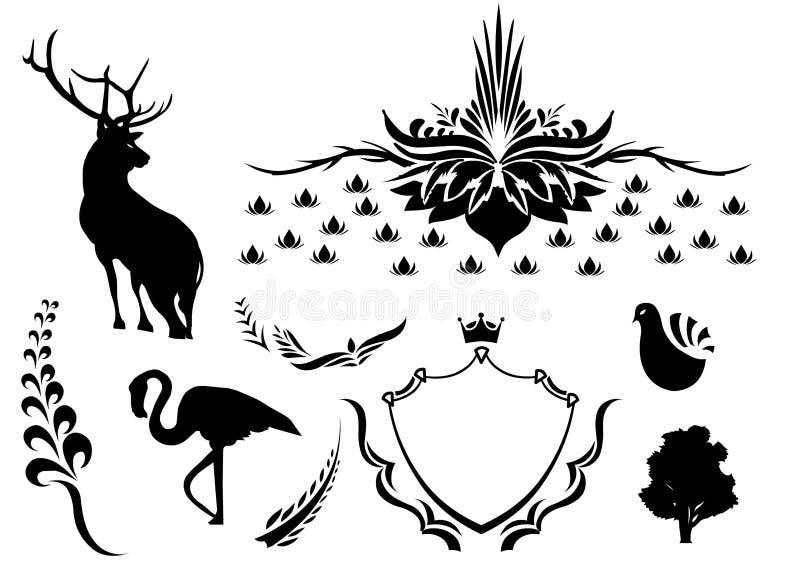 10 abstraktów wektora ilustracja wektor