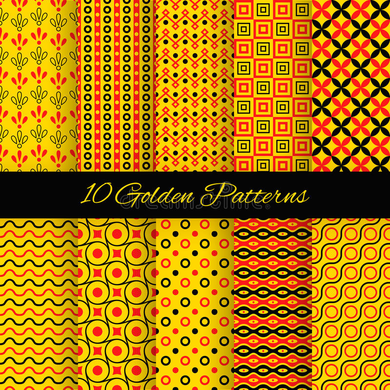 Free 10 Asian Seamless Patterns. Vector Illustration Stock Images - 61662764