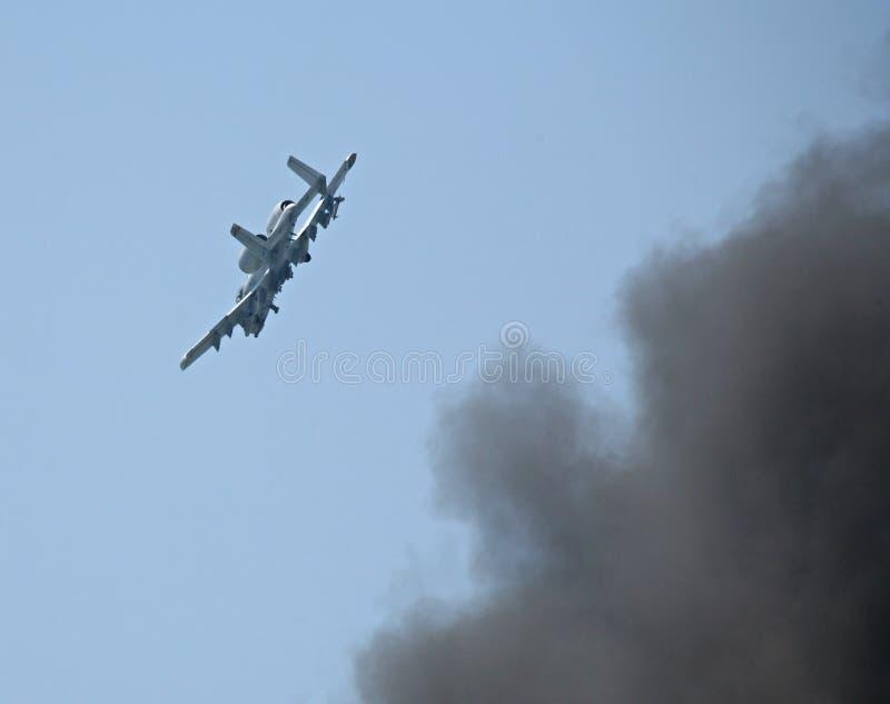 10 ataka samolotów ziemi fotografia stock