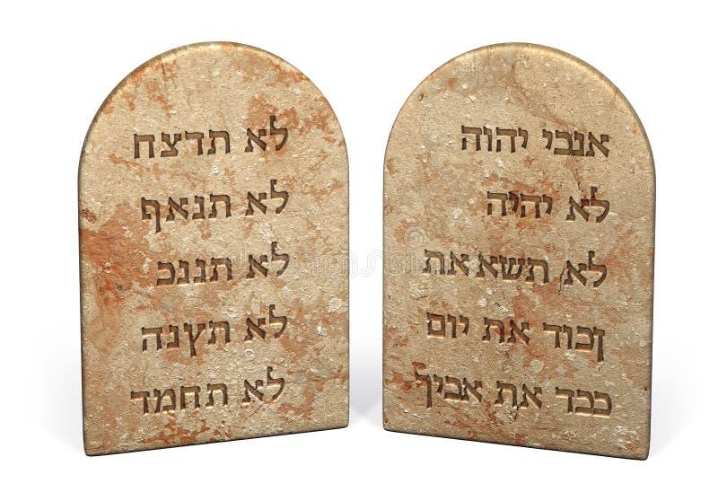 10 commandements illustration de vecteur