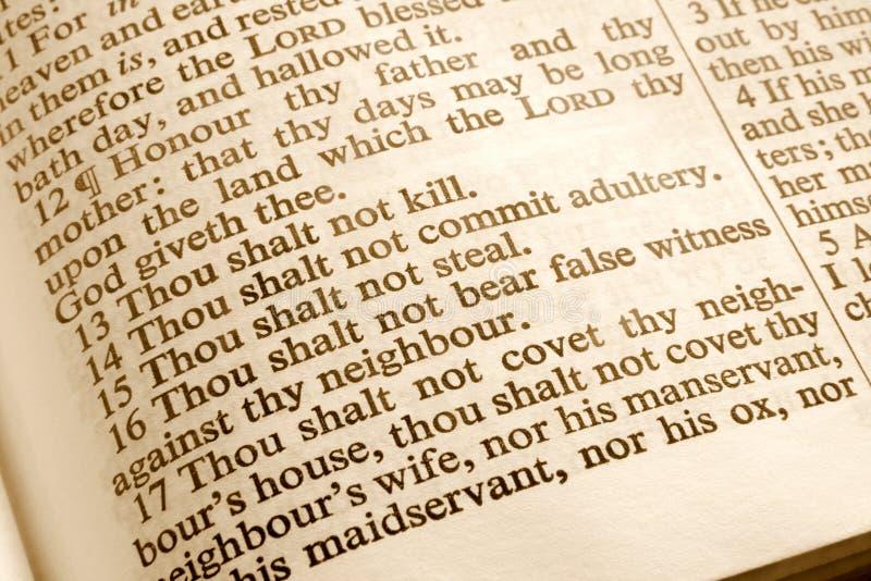 10 commandments royaltyfri foto