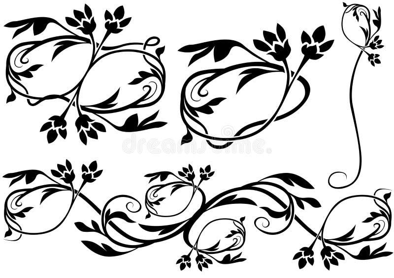 10 dekoracji kwiecista ilustracja wektor
