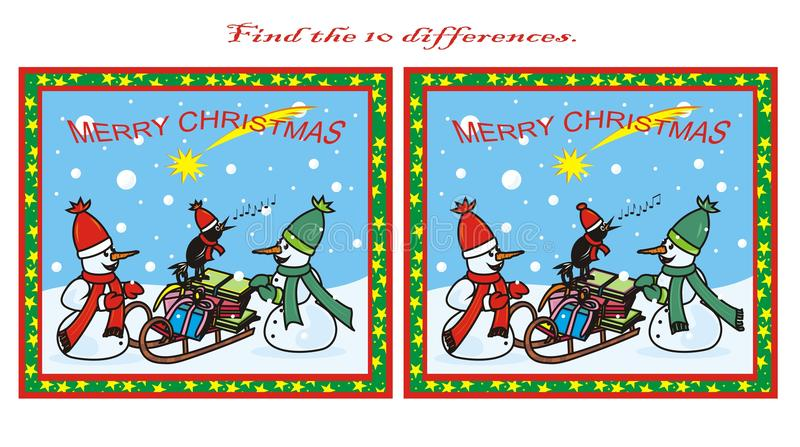 Download 10 differences, Christmas stock vector. Image of bumpkin - 21986061