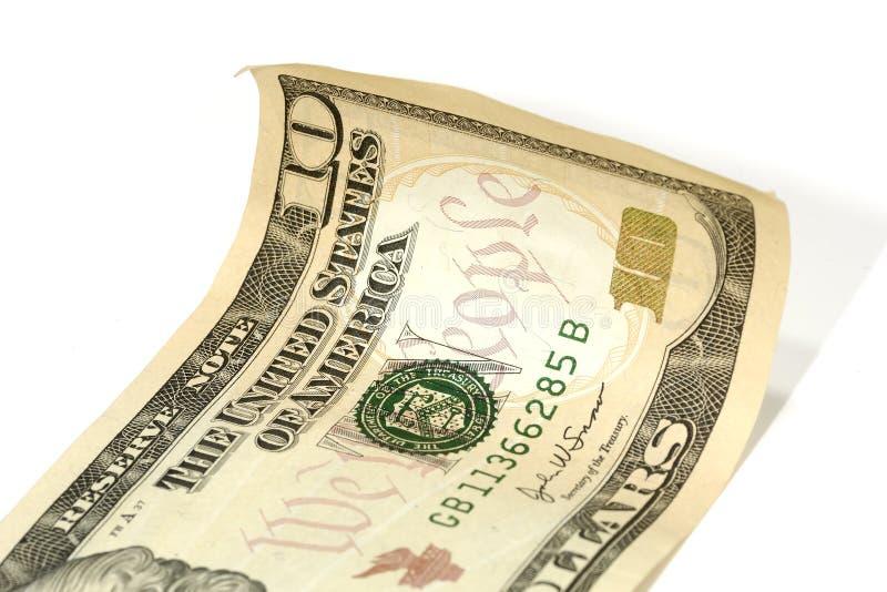 10 Dollarschein lizenzfreie stockfotos