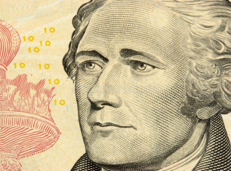 10 Dollarscheinnahaufnahme lizenzfreie stockfotos