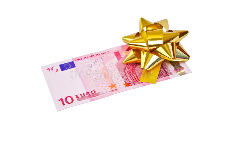 Download 10 euro stock image. Image of paper, ribbon, gift, present - 12671249