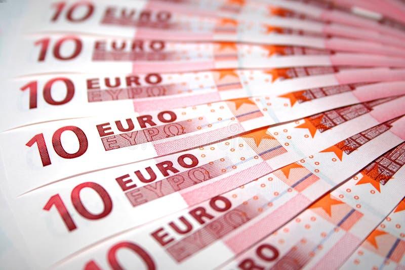 10 Euroanmärkningar Arkivbilder