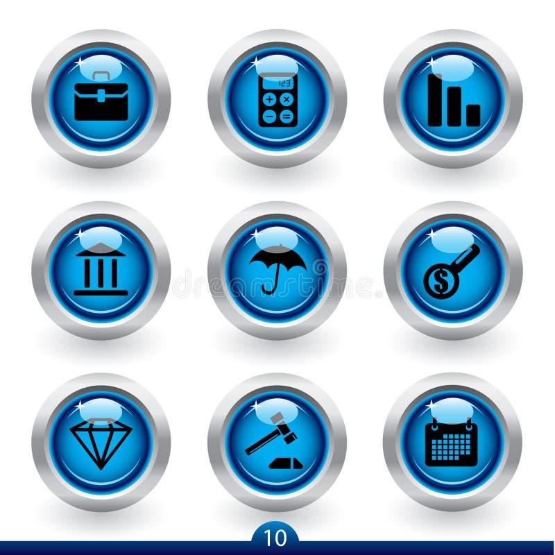 10 finanssymbolsserie vektor illustrationer