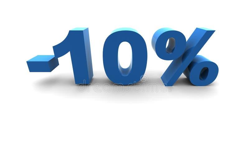 10% isolado ilustração stock