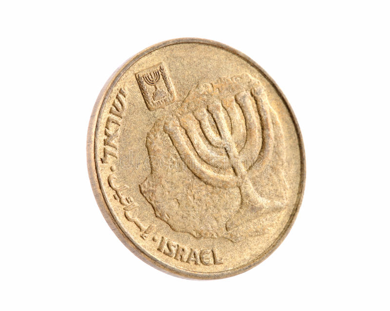 10 israelische neue Sheqel Cents lizenzfreie stockfotografie