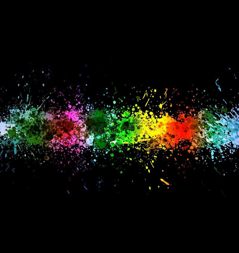 10 koloru eps farby pluśnięć ilustracja wektor