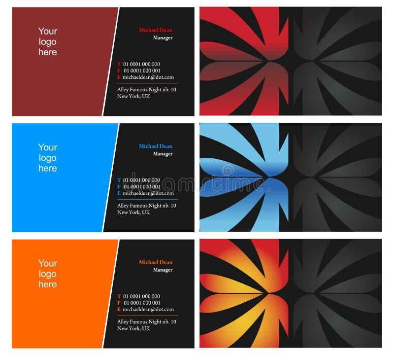 10 kort sid två som vising vektor illustrationer