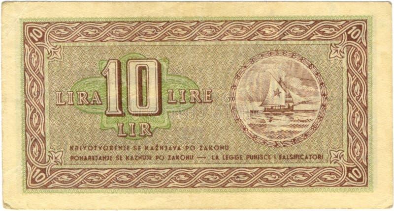 Download 10 lira bill stock photo. Image of lire, drawing, international - 20192784