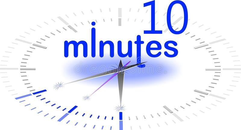 10 minuter stock illustrationer