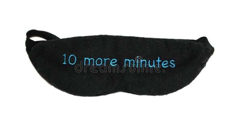 10 more minutes sleep mask royalty free stock image