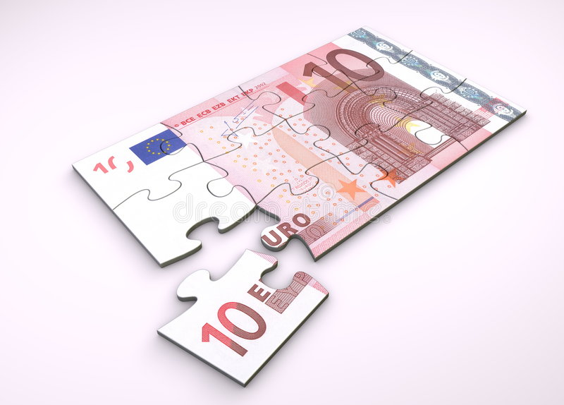 10 nutowa euro łamigłówka royalty ilustracja