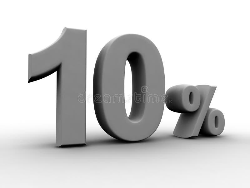 10 Per Cento Fotografia Stock Libera da Diritti