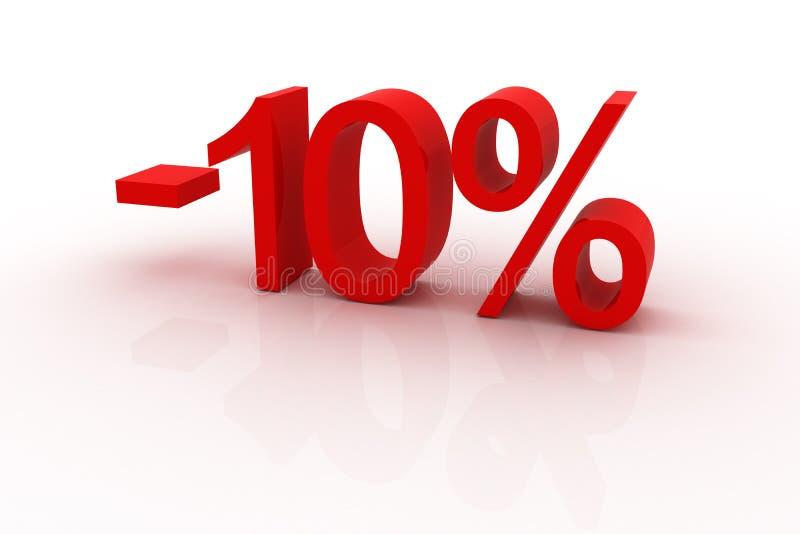 10 percentenkorting stock illustratie