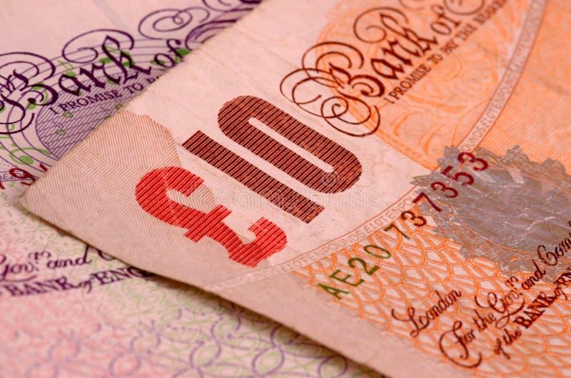 10 Pfundbanknoten stockfoto
