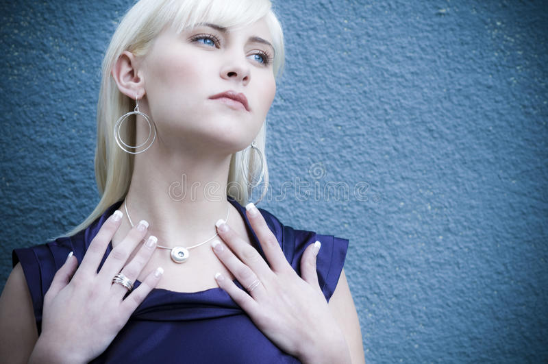 10 piękna blondynka obrazy stock
