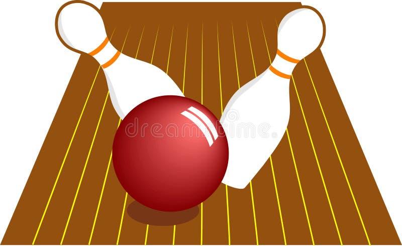 10 Pin-Bowlingspiel lizenzfreie abbildung