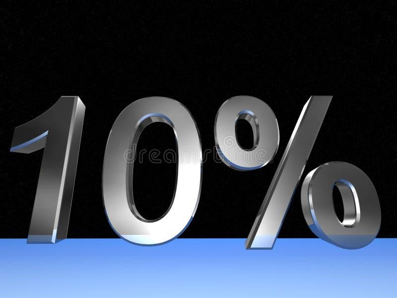 10 pour cent illustration libre de droits