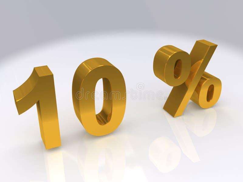 10 procent stock illustrationer