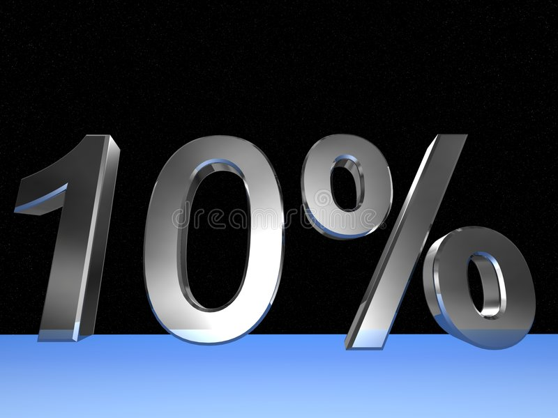10 Prozent lizenzfreie abbildung