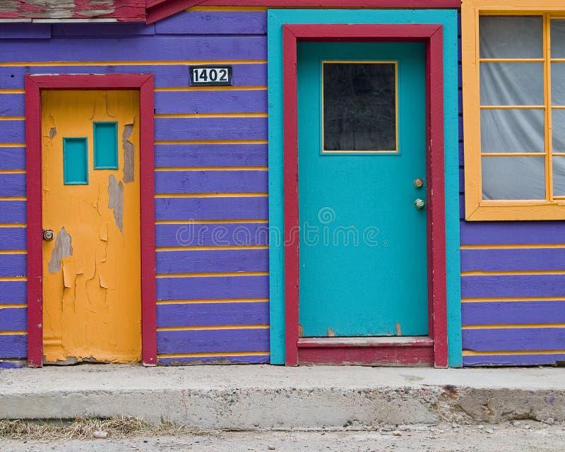 10 Purple house stock photo