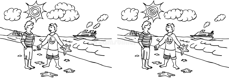 10 różnic znalezisko ilustracji