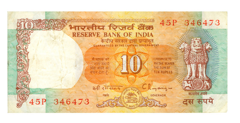 Download 10 rupee bill of India stock photo. Image of bill, investment - 4277570
