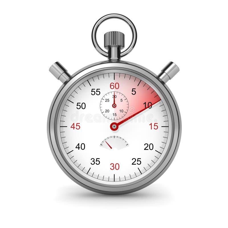 10 sekunder stopwatch royaltyfri illustrationer