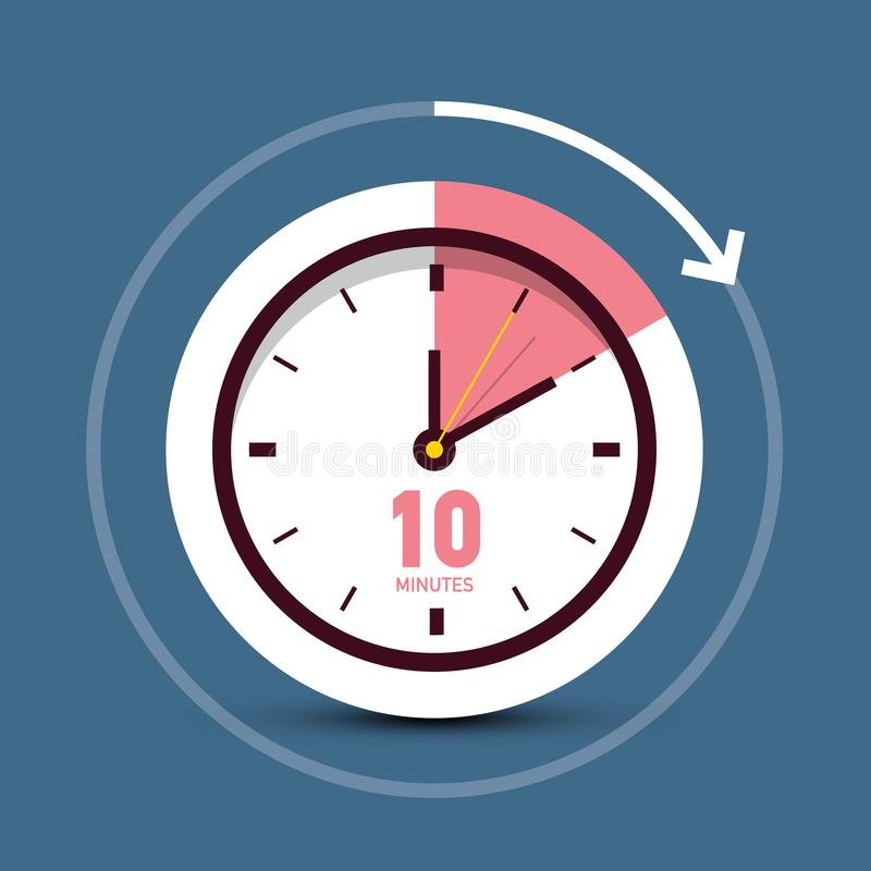 Free 10 Ten Minutes Time Symbol Clock Icon Stock Photography - 137213132