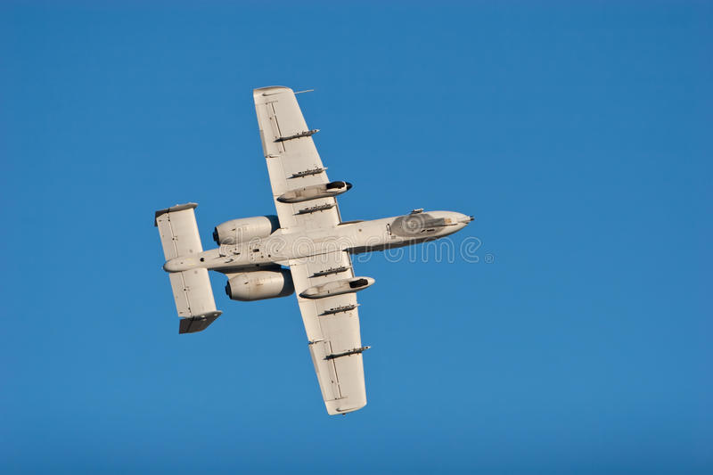 A-10 War5thog bomber plane royalty free stock images