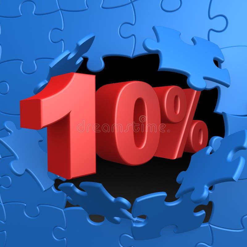 10% weg stock abbildung
