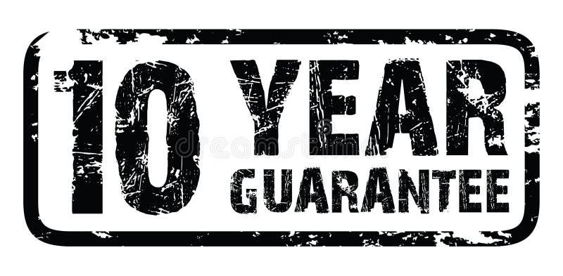10 year guarantee stamp royalty free illustration
