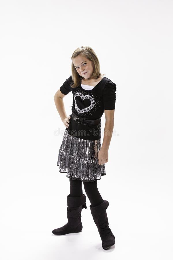 10 z spojrzeniem roczniak dziewczyna zdjęcie stock
