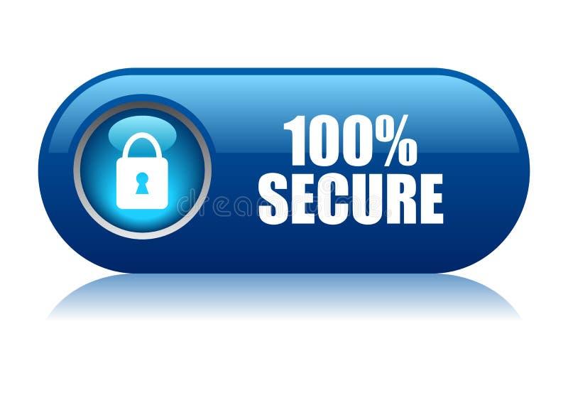 100安全的按钮 皇族释放例证