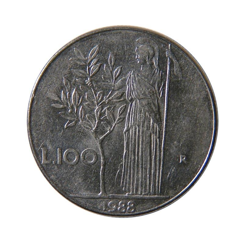 100意大利里拉 库存图片