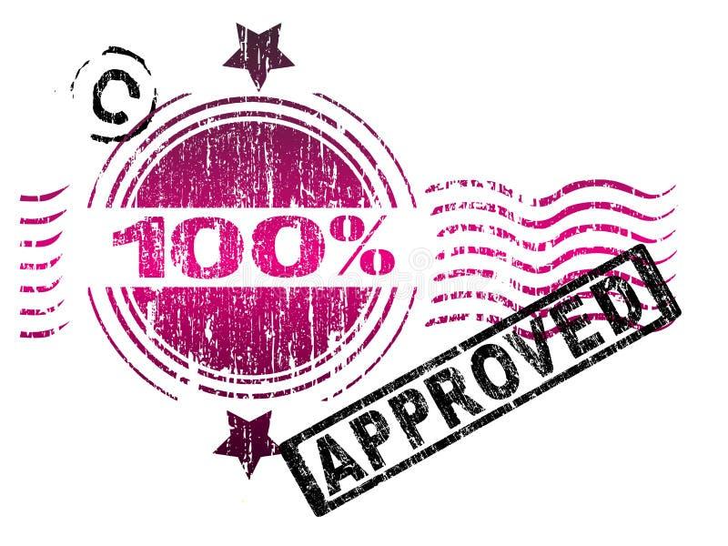 100种被审批的印花税 库存例证